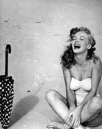 A laughing Marilyn Monroe.  Life could be good!