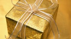 """Lou Lou girls : 10 Christ Centered Christmas Traditions - I love """" your gift to baby Jesus"""" on Christmas Eve writing down a habit you want to give up or start or a spiritual goal etc. and next Christmas read them and see if you achieved your goals for God Gold Wrapping Paper, Gold Paper, Gift Wrapping, Wrapping Ideas, Brown Paper, Christmas Traditions, Christmas Presents, Holiday Gifts, Holiday Parties"""