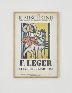 Fernand Leger Exhibition Poster Vintage Poster – hellethygesen.com