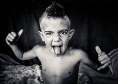 punk kid, don't encourage him