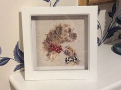 Gorgeous Border Terrier Print Picture with Bella by BellaAndBarns
