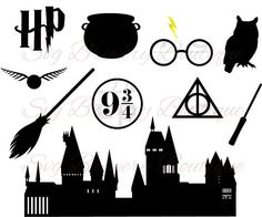 Harry potter collection SVG (layered), PNG, DXF, cricut, silhouette studio, vinyl decal, t shirt design, scrapbooking, stencil template