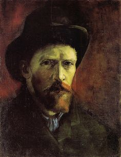 Vincent van Gogh. Self Portrait with Dark Felt Hat, 1886 | Flickr - Photo Sharing!