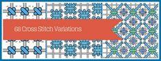 69 Needlepoint Cross Stitch Variations