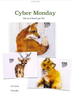Christmas gift offer, Reindeer art, 5x 7 animal print,cyber Monday, red fox art, fox wall art, Irish wildlife,woodland prints  Unique and adorable animals to cherish and collect