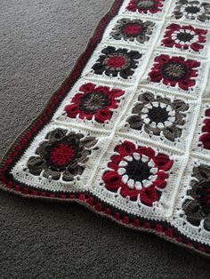 A Granny Square Blanket for the living room
