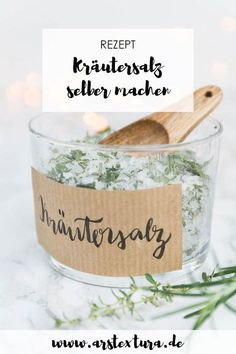 Make DIY herbal salt yourself - ARS TEXTURA - DIY-Ideen, Deko, Geschenkideen & Rezepte DIY Kräutersalz selber machen Make herbal salt yourself - a great DIY gift from the kitchen - make gifts for Christmas for the whole family Diy Jewelry Unique, Diy Jewelry To Sell, Diy Jewelry Making, Diy Crafts To Sell, Sell Diy, Handmade Crafts, Diy Presents, Diy Gifts, Homemade Gifts