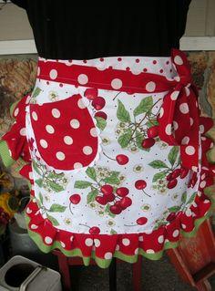 Sweet Cherry - handmade apron