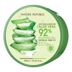 Nature Republic Soothing & Moisture Aloe Vera 92% Soothing Gel es un gel formulado con 92 % de Aloe Vera y vitaminas que humectan y suavizan la piel. Pinéalo en alguno de tus tableros :)