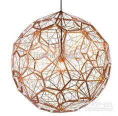 Modern Artistic Etch Light Web Copper By Tomdixon Brass Silver Stainless Steel Pendant Light Chandelier Living Room Light