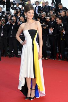 Marion Cotillard wearing a pleated Dior dress {Festival de Cannes 2013}