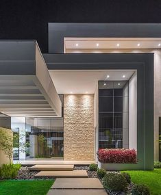 Likes, 23 Comments - Suzanne Arquiteta Modern House Facades, Modern Architecture House, Architecture Design, Building Architecture, House Front Design, Modern House Design, Dream House Exterior, Dream Home Design, House Entrance