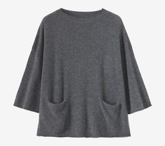 Easy, boxy pullover in a cosy, featherweight, soft and lofty cashmere/wool.