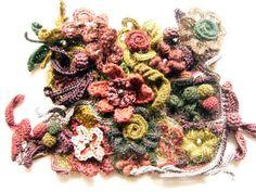スクランブル・scrumble : 糸始末な日々 Thread Handing Days.  3D Floral arrangement.