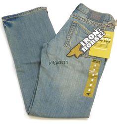 "Womens Iron Horse Jeans IHJ 7"" Low Rise Bootcut 2 Long Slim Fit 31 x 32 1/2 New  #IronHorse #BootCut"