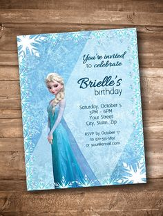 Digital Download Elsa Frozen theme customized by appacadappa