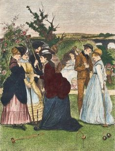 1870 Croquet Published in Every Saturday An Illustrated Journal of choice Reading, Boston