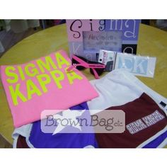 Sigma Kappa Bid Day Package available online or in stores today! Bid Day Gifts, Sigma Kappa, Online Gifts, Sorority