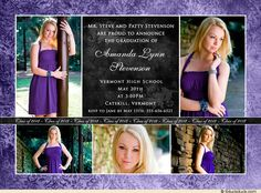 Graduation Invitations Idea Big feature photo and 4 little ones