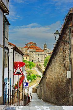 Santiago de Compostela,Galicia, Spain Calle Trompas et Convento de Belvis by paspog, via Flickr