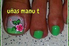 Cute Toe Nails, Cute Toes, Toe Nail Art, Pretty Nails, Summer Toe Designs, Hair And Nails, My Nails, Mani Pedi, Spring Nails