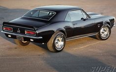 1967 Chevy Camaro Rs Ss Taillights--black on black with chrome wheels--396/auto--totalled mine in May 1971--wish I still had it