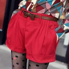 2012 flanging small shorts for women