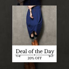 Today Only! 20% OFF this item. Follow us on Pinterest to be the first to see our exciting Daily Deals. Today's Product: Sale -  Asymmetrical Denim Skirt Buy now: http://www.urbanforlife.com/products/asymmetrical-denim-skirt?utm_source=Pinterest&utm_medium=Orangetwig_Marketing&utm_campaign=Daily%20Flash%20Sales #musthave #loveit #shop #shopping #onlineshopping #photooftheday #picoftheday #love #sale #dailydeal #dealoftheday #todayonly # #fashionstyle #womensfashion #womenswear #womensclothing…