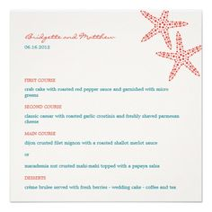 DealsStylish Starfish Wedding Menu Cards Invitationsso please read the important details before your purchasing anyway here is the best buy