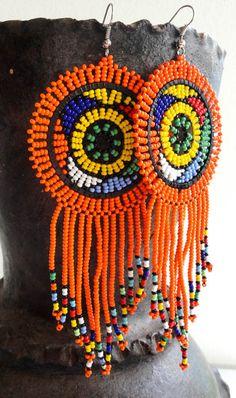 Handmade African Zulu Beadwork Earrings