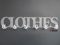 wieszak na ubrania przestrzenny CLOTHES HANGER biały/szary