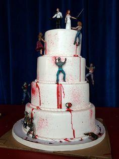 Zombie Killer Wedding Cake Topper
