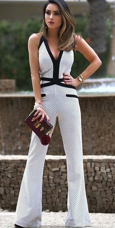 Jumpsuit Elegante, Jumpsuit Dressy, Summer Outfits, Casual Outfits, Girl Fashion, Fashion Outfits, Playsuits, Jumpsuits, Jumpers For Women