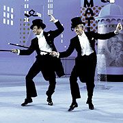 The only time Gene Kelly and Fred Astaire danced together...in a scene from Ziegfeld Follies (1945)