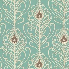 love the colors, swirls, touch of brown in the paisleys. have these colors in my bedroom and living room. see a theme? really loving blue hues these days!