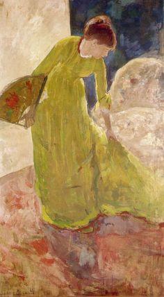 Woman Standing Holding a Fan - MARY CASSATT, 1878-79
