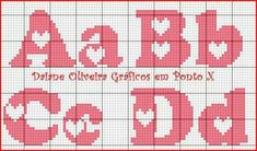 Crochet heart pattern hobbies 22 ideas for 2019 Heart Patterns, Loom Patterns, Applique Patterns, Cross Stitch Beginner, Simple Cross Stitch, Cross Stitch Alphabet, Counted Cross Stitch Patterns, Plastic Canvas Letters, Crochet Letters