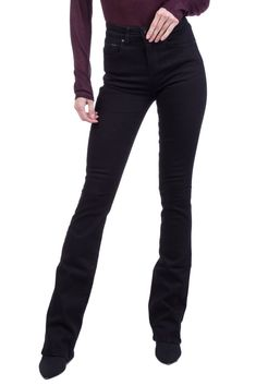 a0abde9e4b4 IDA Jeans Size 24 Stretch Black Garment Dye Zip Fly High Waist Bootcut Leg   fashion