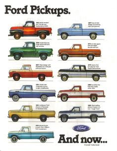 Ford Pick-Up, Line-Up. 1953-1986.
