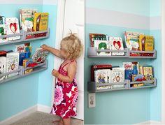 Ikea-BEKVAM-spice-rack-bookshelves - Home Decorating Trends - Homedit Ikea Spice Racks As Book Shelves, Spice Rack Bookshelves, Spice Rack Hack, Home Hacks, Interior Design, Home Decor, Kids Rooms, Ikea Montessori, Bathroom Crafts