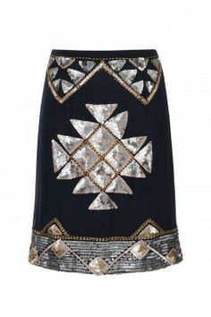 Skirts - Clothing #sale #aztec #vintageinspired #embellished #sequins #frockandfrill #skirt #fashion
