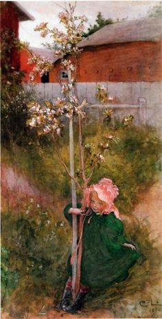 Carl Larsson - Apple Blossom.  Because I have to pin every Carl Larsson that I find.