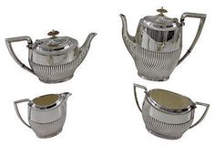 Vintage English Tea & Coffee Set, C. 1890, 4-Pcs $1300/749