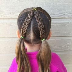 Super cute and simple braided pigtails style. Looks kinda like a we are headed to see tomorrow...wish me luck ha ha