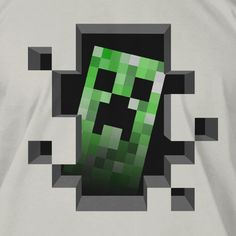 NX : Minecraft Creeper Inside Premium Tee - Clothing Inspired by Video Games & Geek Culture Minecraft Posters, Minecraft Images, Minecraft Video Games, Minecraft Toys, Minecraft Designs, Minecraft Merchandise, Custom Muscle Cars, Gamer T Shirt, Geek Culture