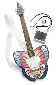 Daisy Rock 'Butterfly' Electric Guitar Starter Kit (Girls) available at #Nordstrom