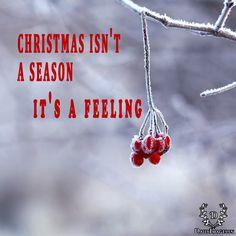 christmas isn't a season. it's a feeling. #christmasday #cd #quotes