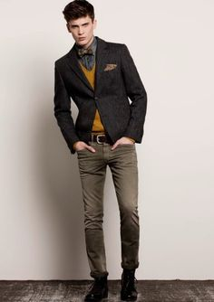 Nice fall bow tie get-up.