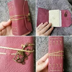 Handstitched Mauve Leather Journal by AshandElmBooks on Etsy Leather Journal, Bookbinding, Hand Stitching, Mauve, Journals, Etsy Shop, Unique Jewelry, Handmade Gifts, Check