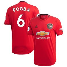 4400fd97579 Paul Pogba #6 Manchester United SOCCER 2019/20 Home Custom Jersey â   Red
